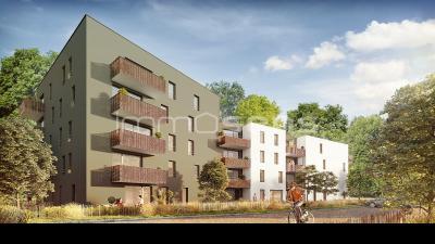 MAXEVILLE T2 en VEFA avec terrasse jardin et place de parking